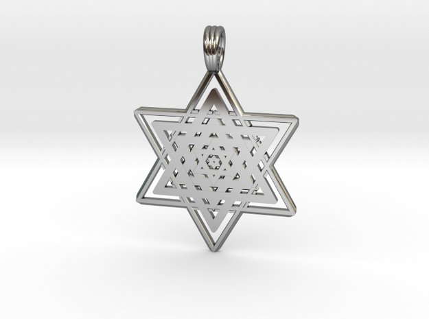 FRACTAL STAR OF DAVID in Premium Silver