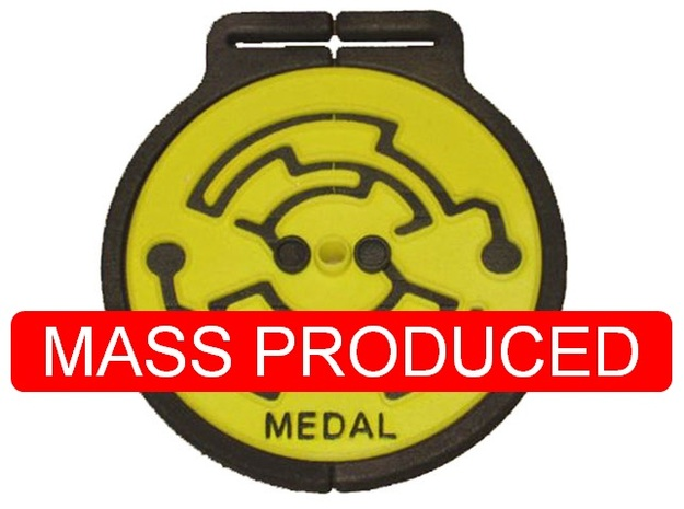 Medal in White Processed Versatile Plastic