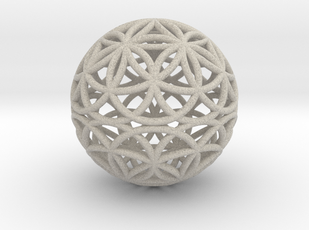 Special Edition 100mm Thick Flower Of Life in Sandstone