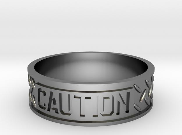 Caution sz12 US in Premium Silver