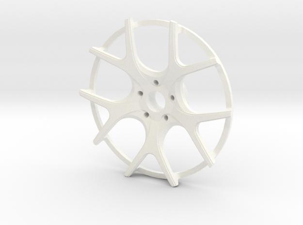 Twin Five Spoke Wheel Face in White Strong & Flexible Polished