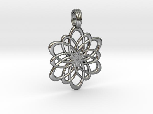 INFINITY FLOWER (pendant) in Premium Silver