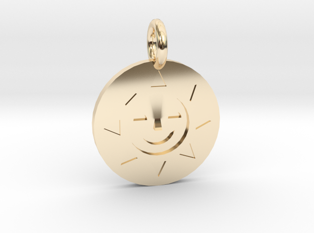 Golden Sun Charm DuckTales in 14k Gold Plated Brass