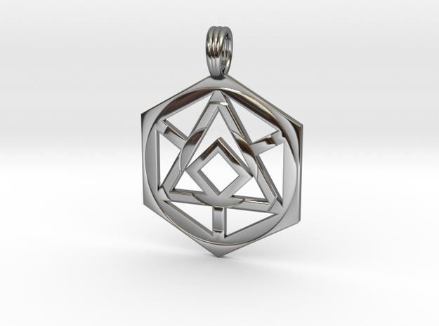 HEX MATRIX in Premium Silver