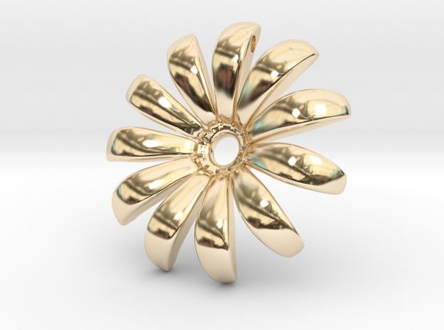 Daisy Pendant Shapeways in 14K Gold