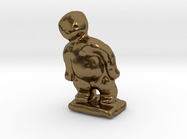 Small Man Sculpture in Polished Bronze