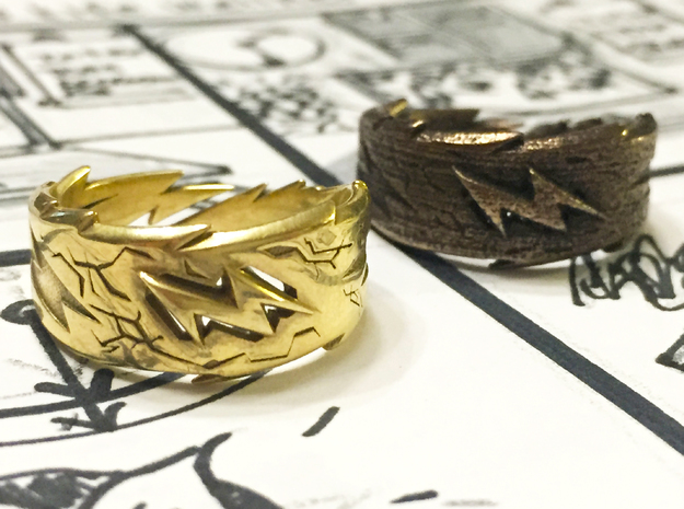 Power : Zeus Ring Size 8 in Polished Brass