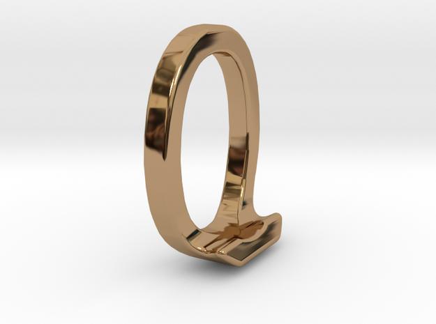 Two way letter pendant - JO OJ in Polished Brass