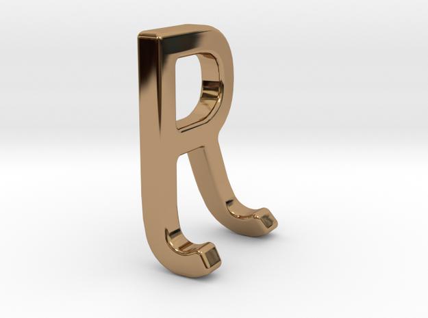 Two way letter pendant - JR RJ