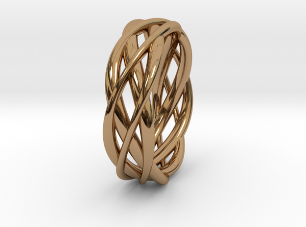 Mobius ring braid  in Polished Brass: 8 / 56.75