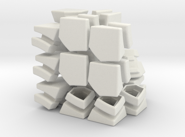 3×3×3 Edges without PacMan cutouts in White Natural Versatile Plastic