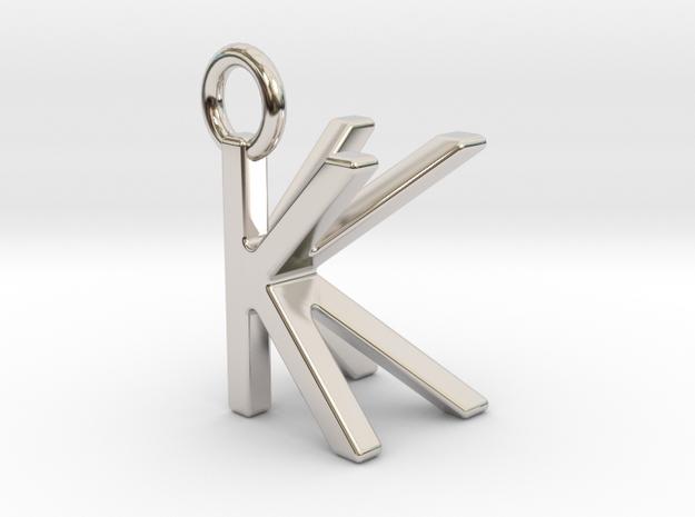 Two way letter pendant - KK K