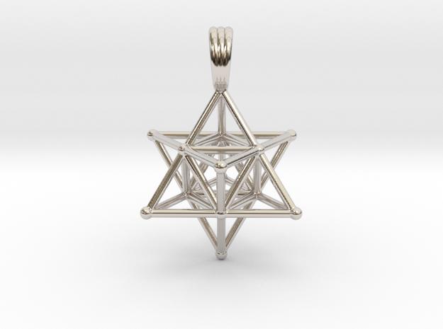 MERKABAH (pendant) in Rhodium Plated