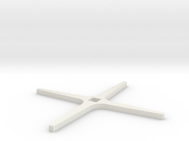 TUW14875 KAMP3799 URAspakenkruis in White Natural Versatile Plastic