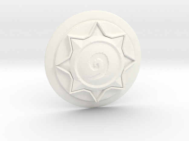 Hearthstone Logo Replica in White Strong & Flexible Polished