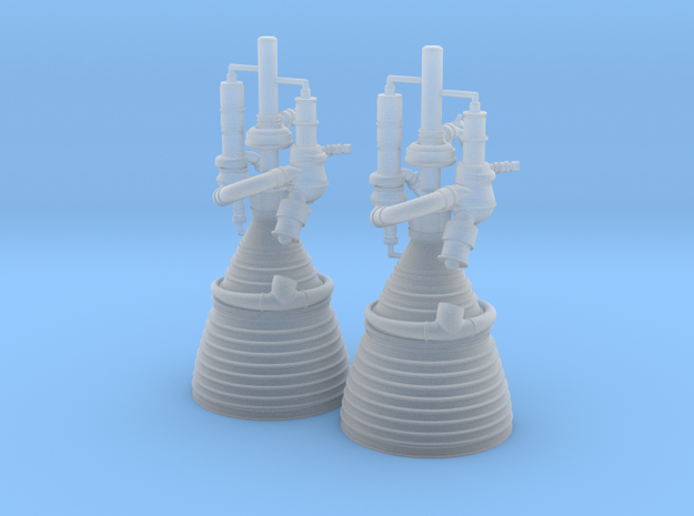J-2 Engine (1:72 Set of 2) in Smooth Fine Detail Plastic
