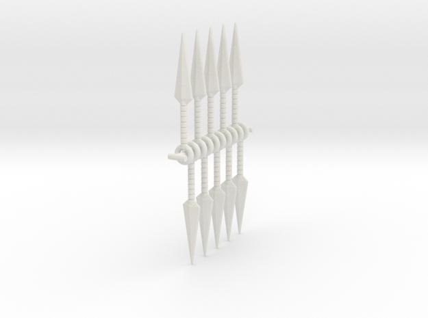 1:6 kunai x 10 SF  in White Natural Versatile Plastic