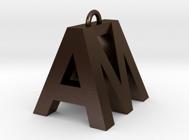 AM in Polished Bronze Steel