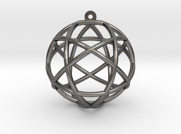"""Penta Sphere Pendant 1.5"""" in Polished Nickel Steel"""