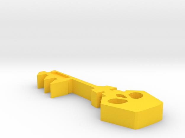Borderlands Golden Key in Yellow Processed Versatile Plastic