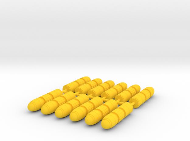 Transformers Thunderclash missiles (12). in Yellow Processed Versatile Plastic
