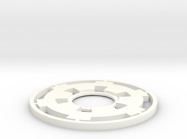 Lightsaber Tsuba Empire in White Processed Versatile Plastic