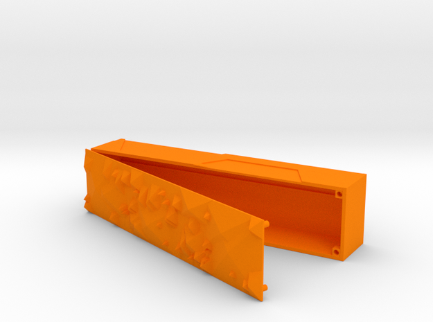 Pencilcase open in Orange Processed Versatile Plastic