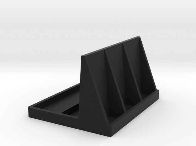 Remote Control and 3d Glass Stand in Black Strong & Flexible
