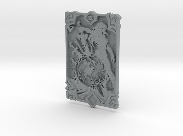 Darksiders Tarot Card - VI - The World in Polished Metallic Plastic