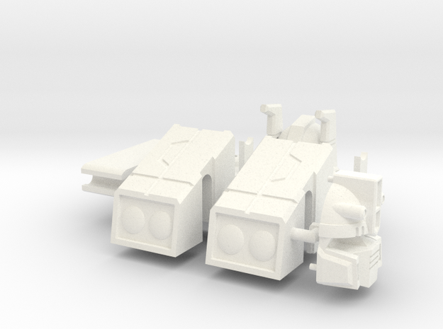 Flame-O Parts (sodawilly) in White Processed Versatile Plastic