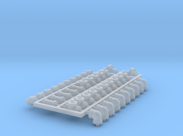 Set 4in 2c in Smooth Fine Detail Plastic