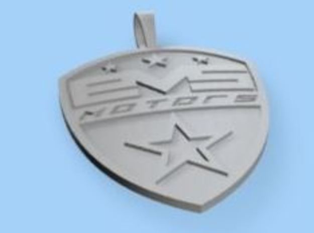 EVSMotors Pendent 50X40 in Fine Detail Polished Silver