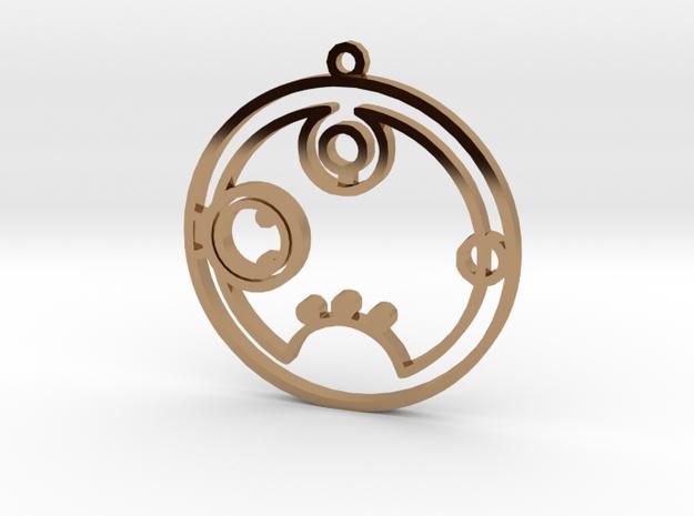 Rebecca / Rebekka - Necklace in Polished Brass