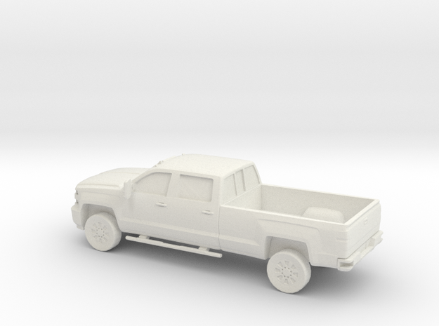 1/56 2015 Chevrolet Silverado Long Bed in White Natural Versatile Plastic