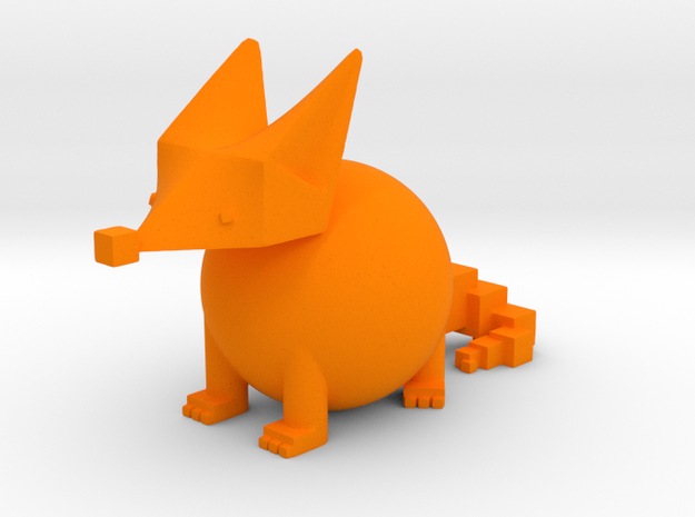 PRIMITIVE SHAPES FOX 2-IN Hollow Version in Orange Processed Versatile Plastic