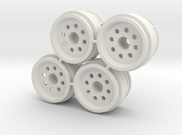 "Rim 2 part weighted 1/8"" offset - LosiMcRC/Trekker in White Natural Versatile Plastic"