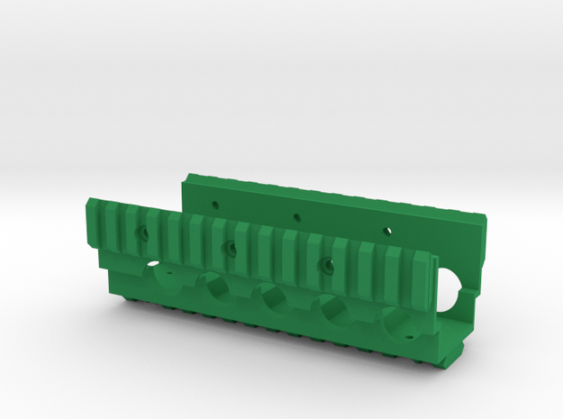 M249 Lower RAS RIS Handrail in Green Processed Versatile Plastic
