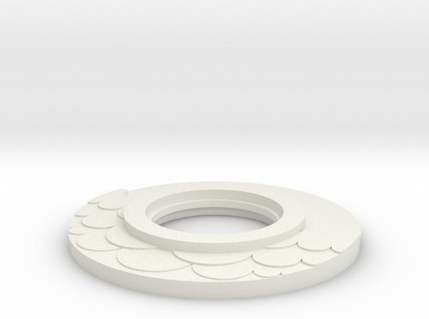 lightsaber water Tsuba in White Natural Versatile Plastic