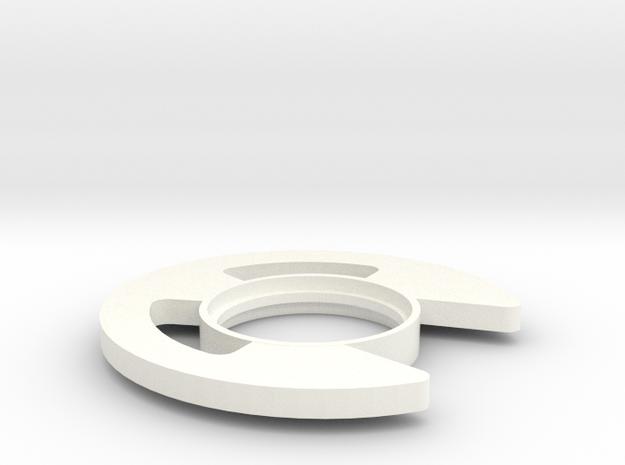 Retaining Clip Tsuba in White Processed Versatile Plastic