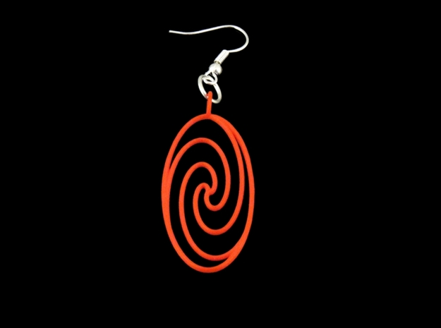 Quark Pendant - Spiral (1oW95T) in Red Processed Versatile Plastic