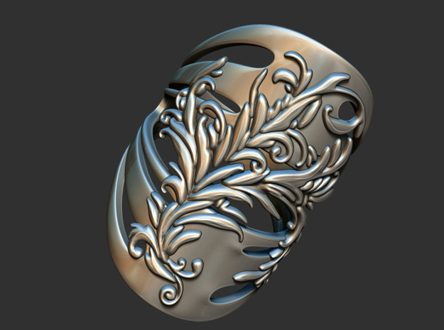 Women Ring in Fine Detail Polished Silver