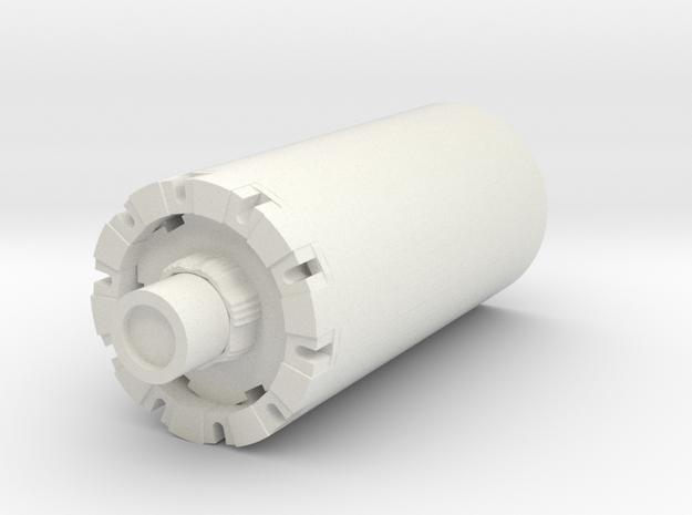 """Generic Blade Plug 1"""" in White Natural Versatile Plastic"""