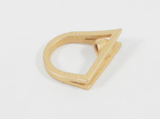 Peekaboo Ring 3d printed Gold Glossy