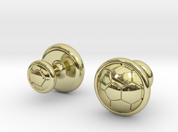 SOCCER CUFFLINKS 1 in 18k Gold Plated Brass