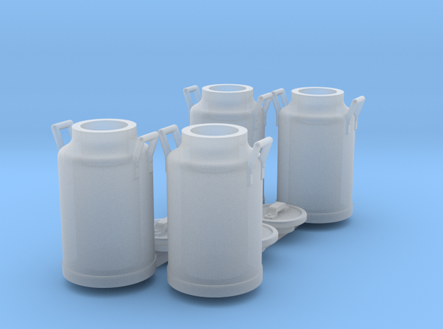 Scale 1/35 milk can - set of 4 in Smooth Fine Detail Plastic