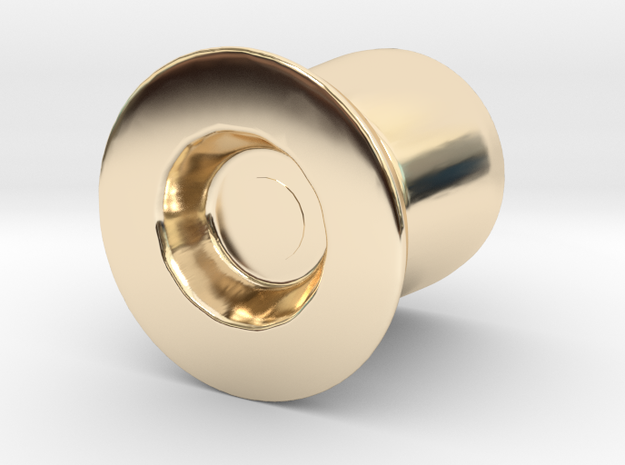 Door Handle 1 in 14K Yellow Gold