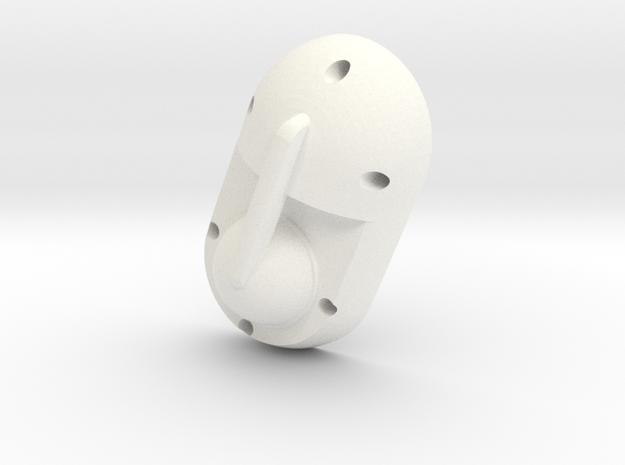 Mecha Glove - ScorpionBox - Lightbox Lid in White Strong & Flexible Polished