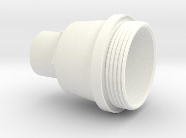 OilFilterCapPattern1.7 in White Processed Versatile Plastic