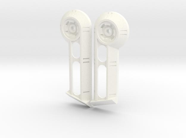 Merc Pilot Earcap's in White Processed Versatile Plastic