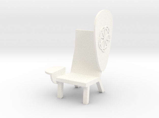 'EMOJI CHAIR - SHIELD' by RJW Elsinga 1:10 in White Strong & Flexible Polished